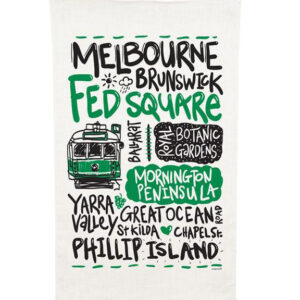 Ozkoi Melbourne Tram Tea Towel