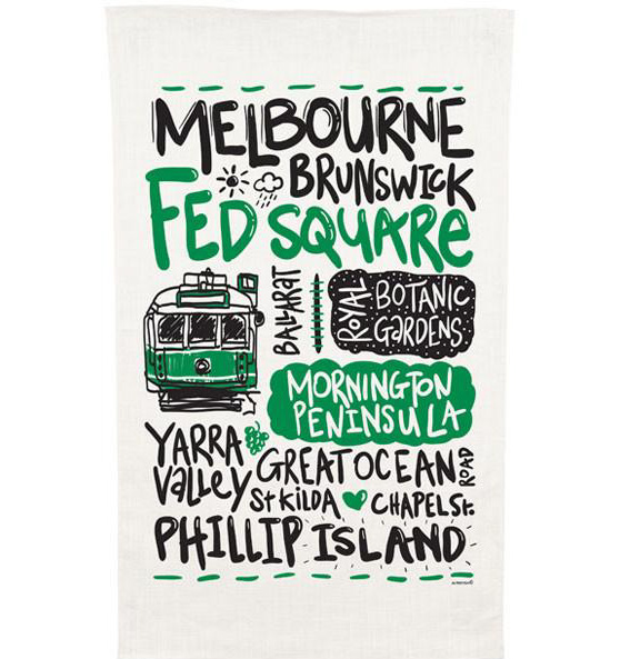 Ozkoi Melbourne Tram Tea Towel