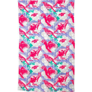 Ozkoi Aussie Lace Pink Cotton Tea Towel