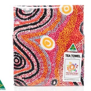 Ozkoi Aboriginal Art Tea Towel by Otto Sims