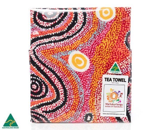 Ozkoi Aboriginal Art Tea Towel by Otto Sims