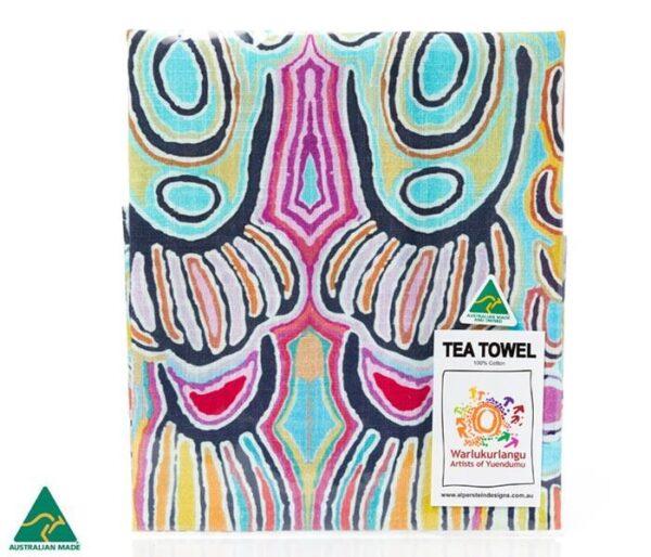 Ozkoi Aboriginal Art Tea Towel by Judy Watson