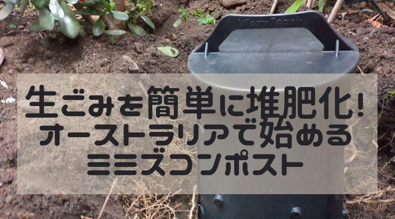 生ごみを簡単に堆肥化!オーストラリアで始めるミミズコンポスト Ozkoi